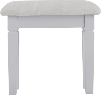 Chantilly Moonlight Grey Painted Bedroom Stool