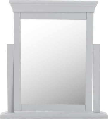 Chantilly Moonlight Grey Painted Trinket Mirror