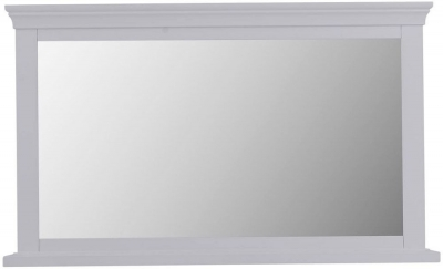 Chantilly Moonlight Grey Painted Rectangular Wall Mirror - 100cm x 60cm