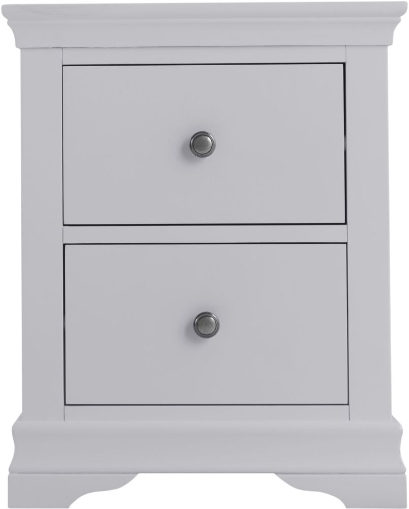 Chantilly Moonlight Grey Painted Bedside Cabinet