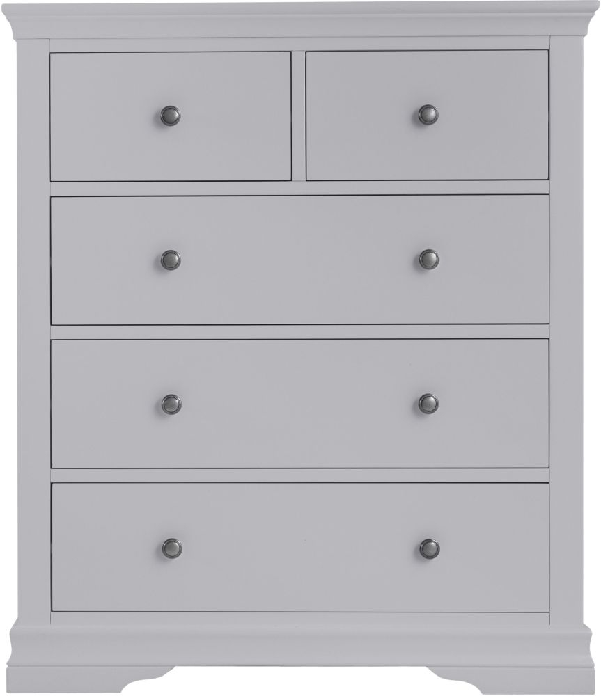 Chantilly Moonlight Grey Painted 2+3 Drawer Chest