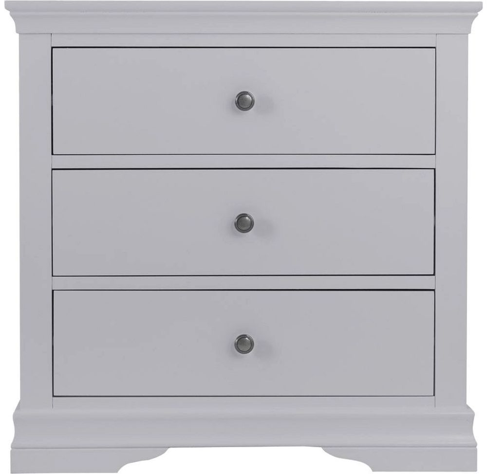 Chantilly Moonlight Grey Painted 3 Drawer Chest
