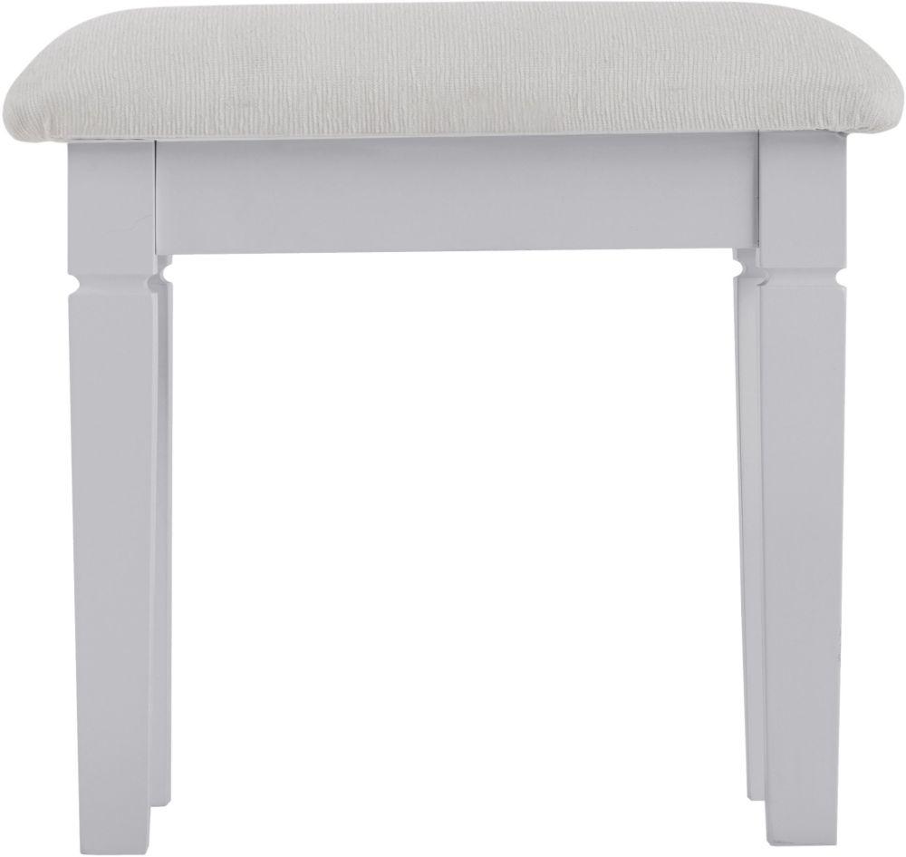 Chantilly Moonlight Grey Painted Bedroom Stool