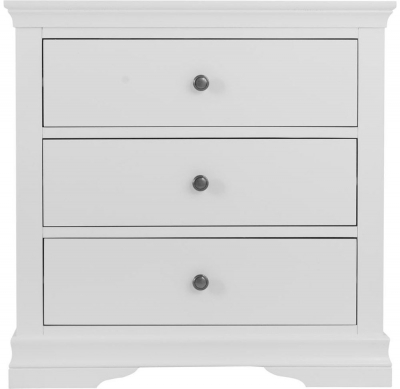 Chantilly White Painted 3 Drawer Chest