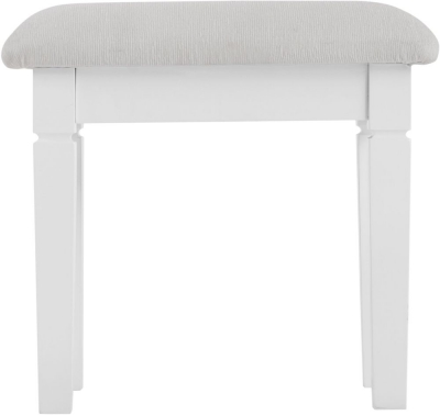 Chantilly White Painted Bedroom Stool