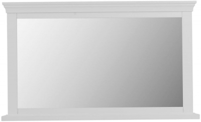 Chantilly White Painted Rectangular Wall Mirror - 100cm x 60cm