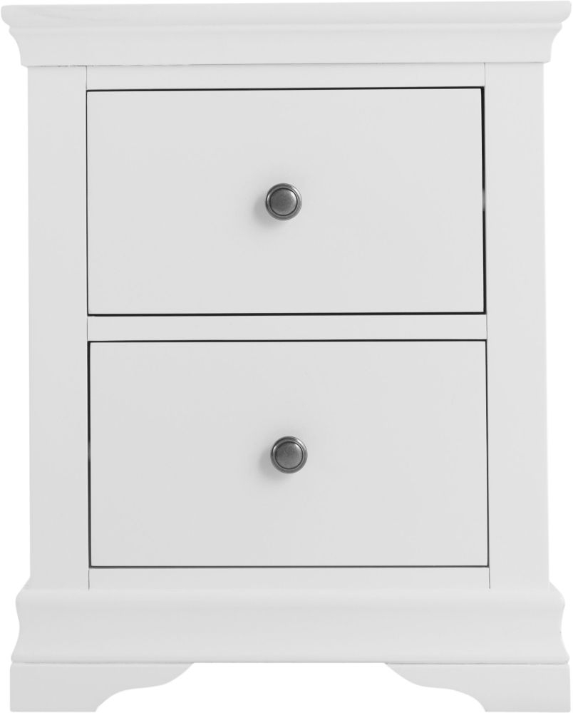 Chantilly White Painted Bedside Cabinet
