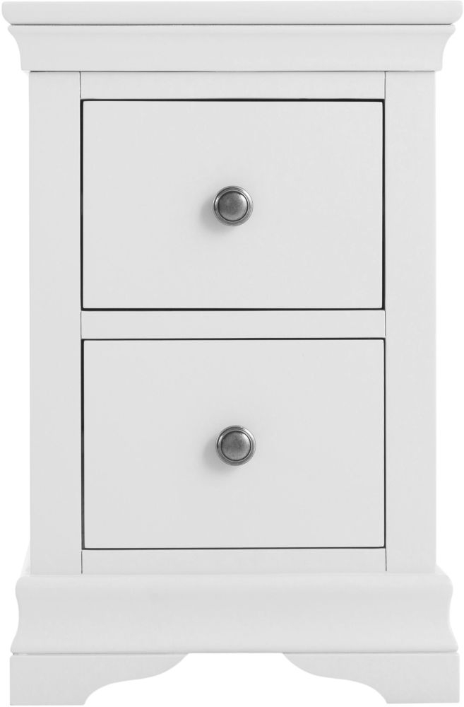 Chantilly White Painted Narrow Bedside Cabinet