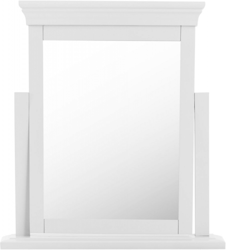 Chantilly White Painted Trinket Mirror