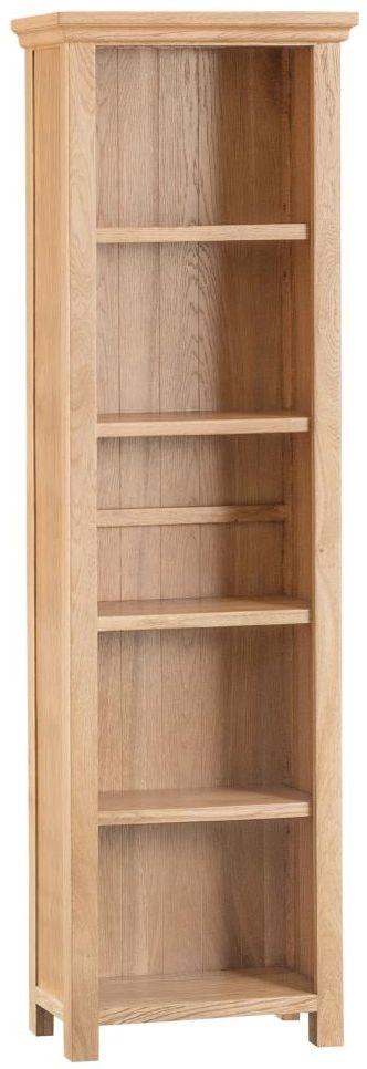 Cheshire Natural Oak Bookcase - Large Narrow
