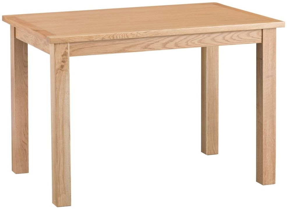 Cheshire Natural Oak Dining Table - Large Fixed Top