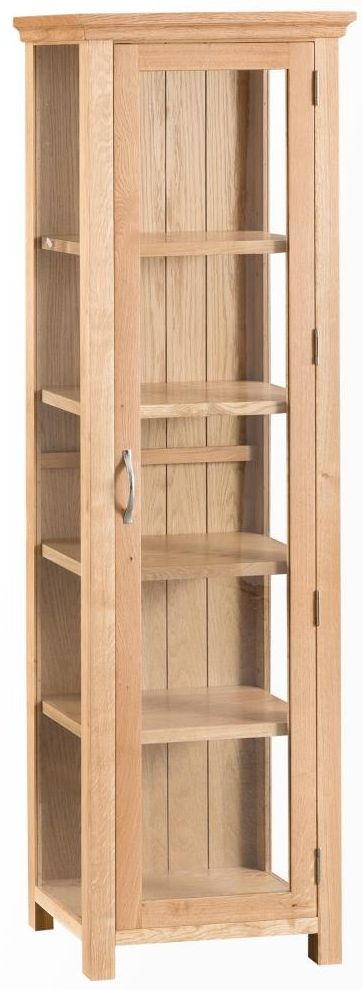 Cheshire Natural Oak Display Cabinet