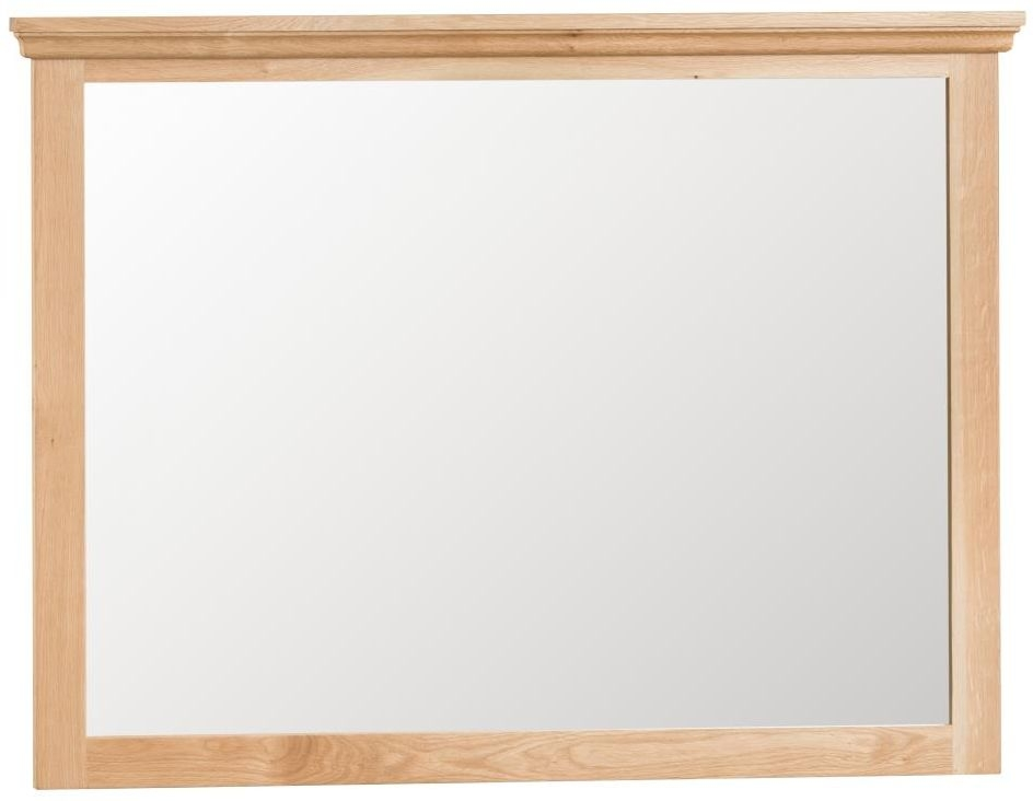 Cheshire Natural Oak Rectangular Mirror