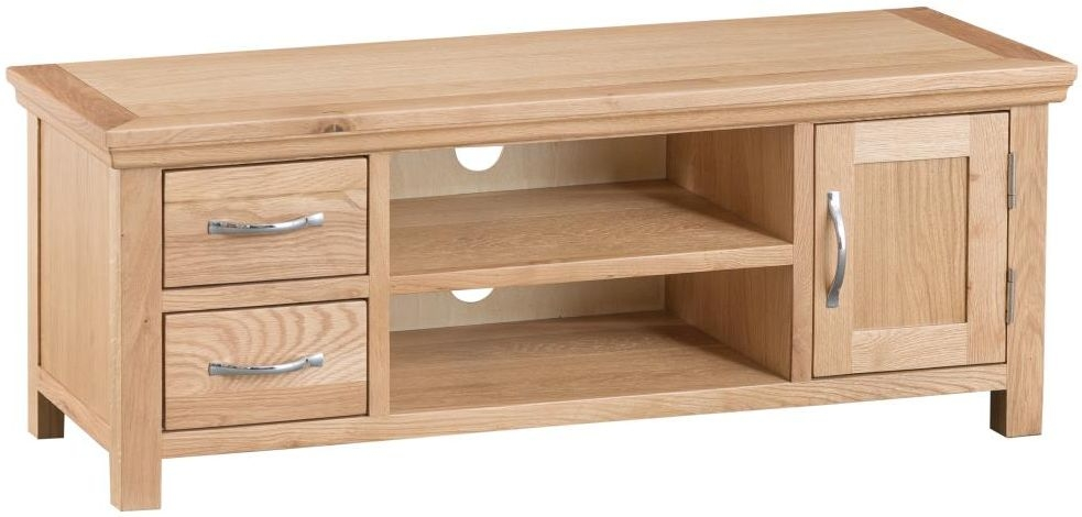 Cheshire Natural Oak Large TV Unit