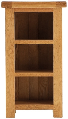 Chichester Cottage Style Rustic Oak Bookcase - Narrow