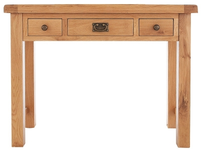 Chichester Cottage Style Rustic Oak Dressing Table - 3 Drawer