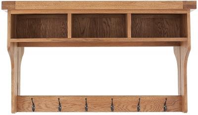 Chichester Cottage Style Rustic Oak Hall Shelf Unit