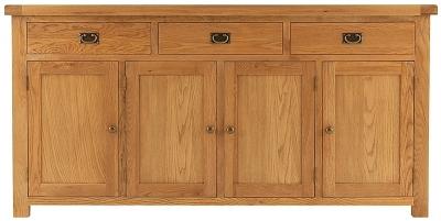 Chichester Rustic Sideboard - 4 Door