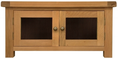 Chichester Rustic TV Unit - Standard with Glass Doors