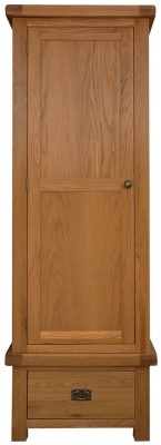 Chichester Cottage Style Rustic Oak Wardrobe - Single