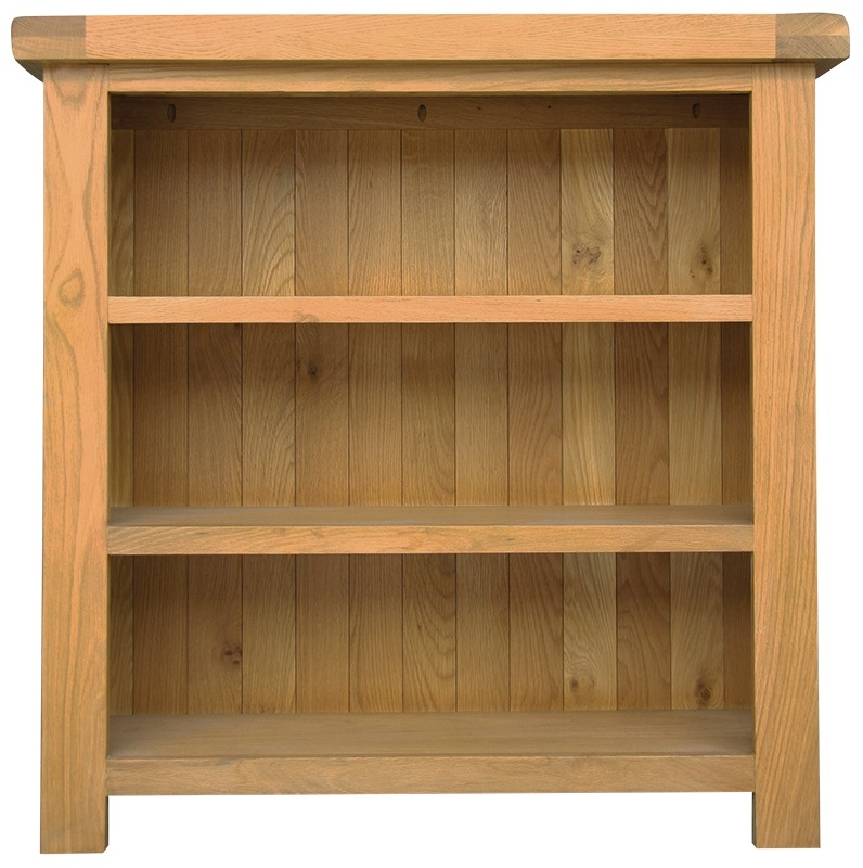 Chichester Cottage Style Rustic Oak Bookcase - Small