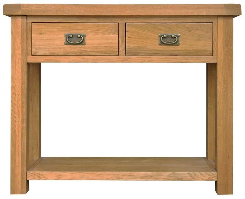 Buy Chichester Cottage Style Rustic Oak Medium Console Table Online - Cottage style console table