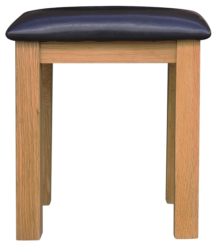 Chichester Cottage Style Rustic Oak Stool