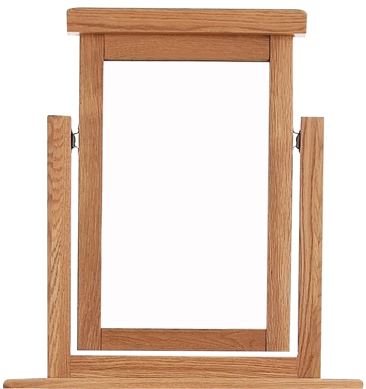 Chichester Cottage Style Rustic Oak Vanity Mirror