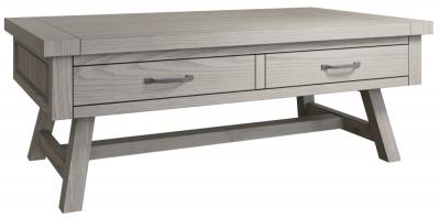 Coniston Grey Oak 2 Drawer Coffee Table