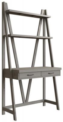Coniston Grey Oak 2 Drawer Desk Bookcase