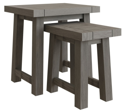 Coniston Grey Oak Nest of 2 Tables
