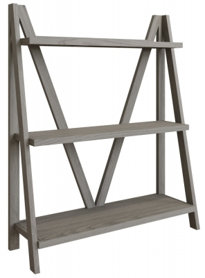 Coniston Grey Oak Wide Bookcase