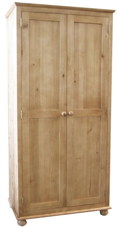 Dorchester Antique Waxed Pine Double Wardrobe