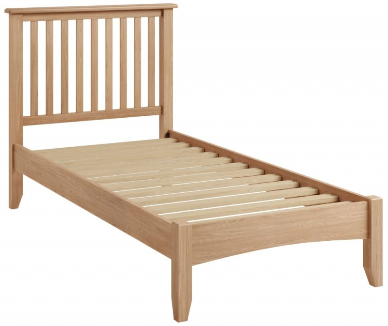 Eva Light Oak Bed