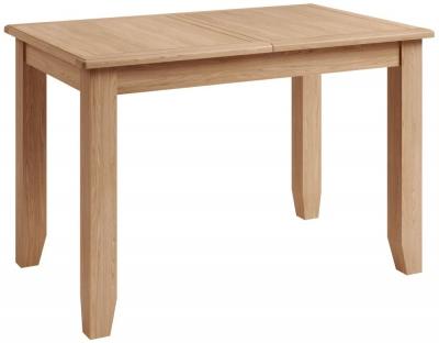 Eva Light Oak 120cm Extending Dining Table