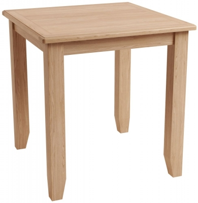 Eva Light Oak Square Dining Table