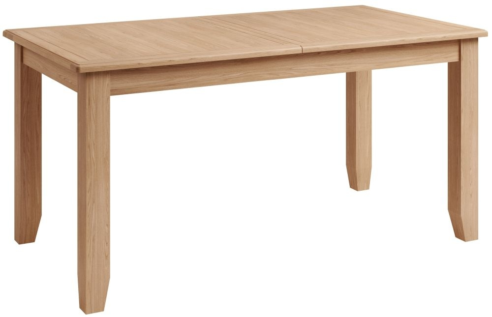 Eva Light Oak 160cm Extending Dining Table