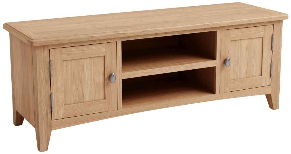 Eva Light Oak Large TV Unit