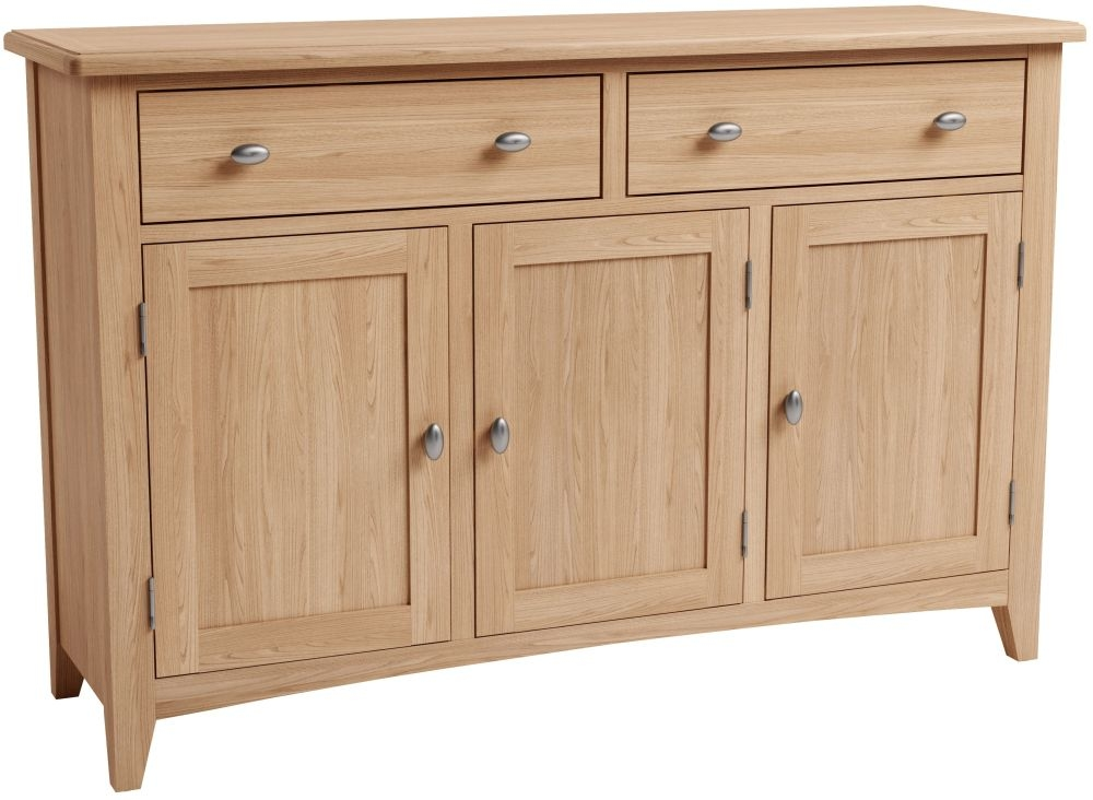 Eva Light Oak Wide Sideboard