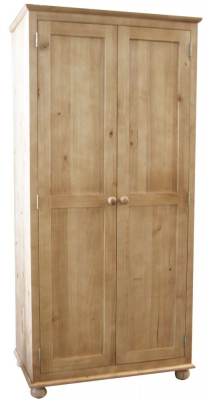 Fenton Classic Style Antique Pine Wardobe - Double
