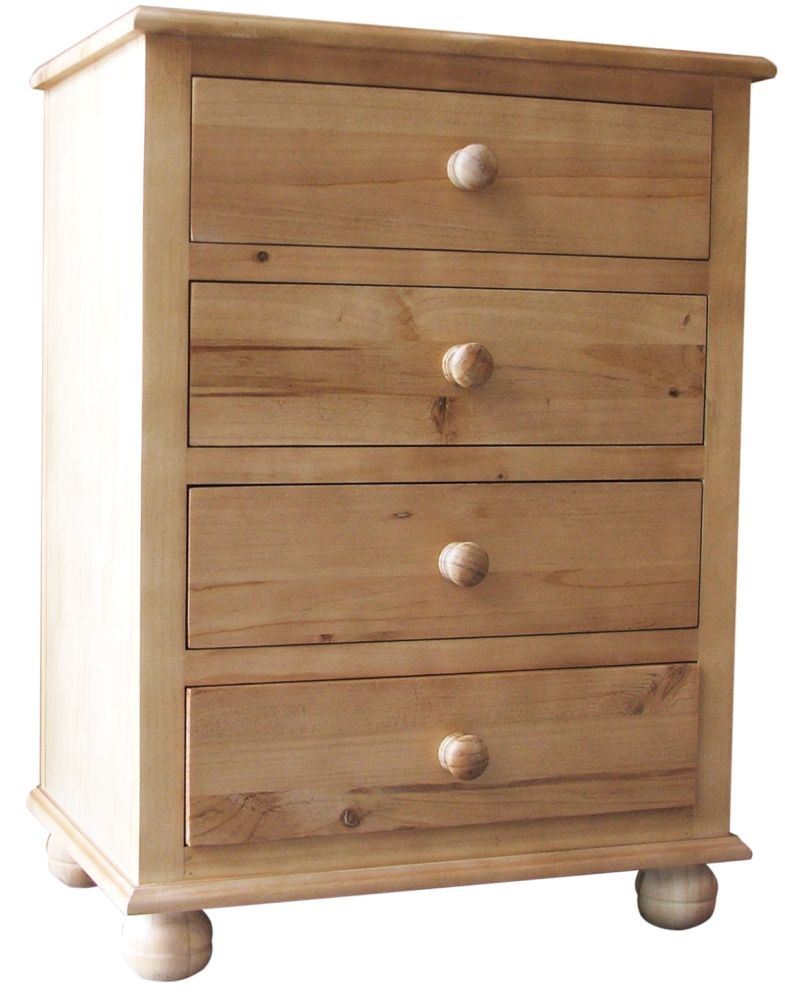Fenton Classic Style Antique Pine Chest of Drawer - 4 Drawer