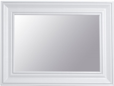 Hampstead White Painted Rectangular Wall Mirror - 80cm x 60cm