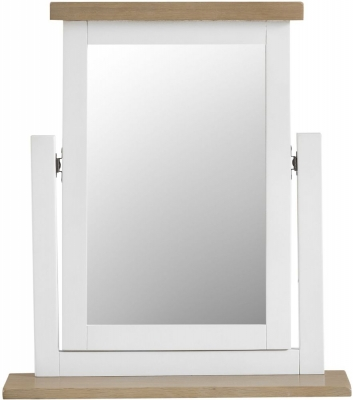 Hampstead Oak and White Painted Trinket Mirror