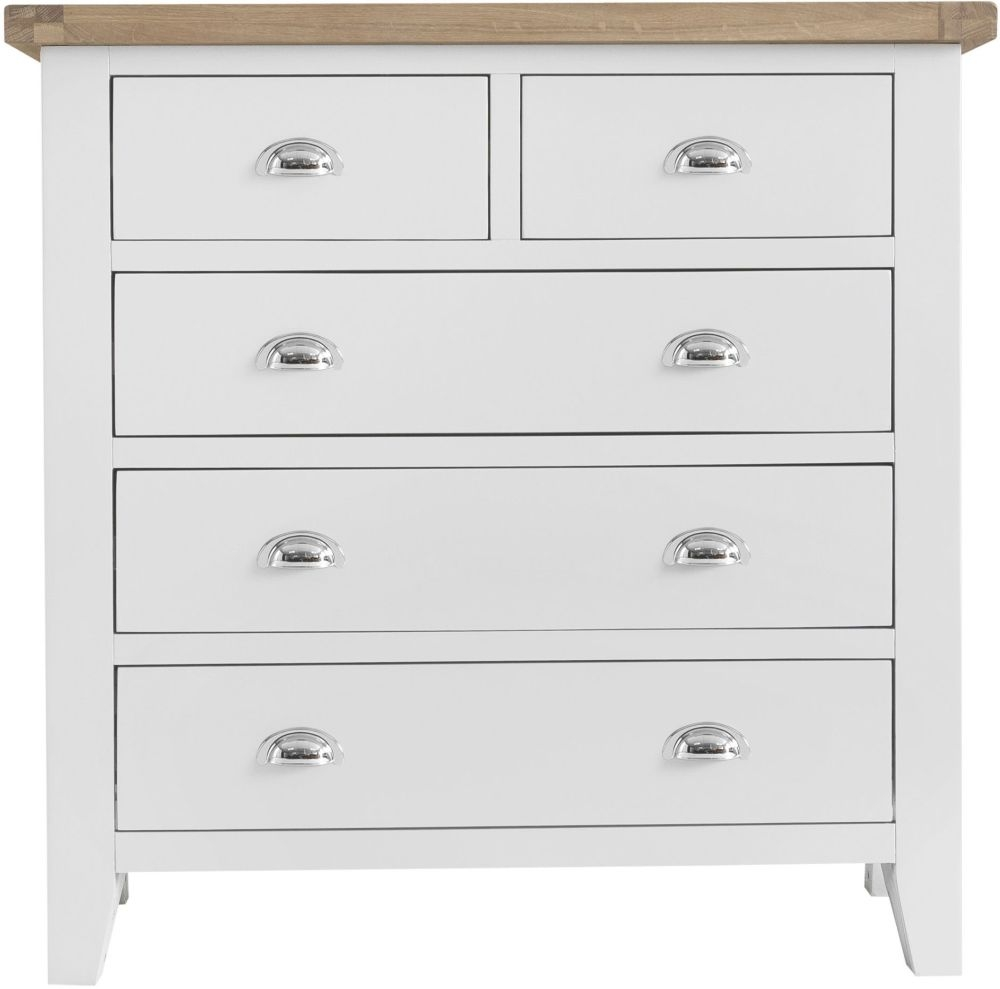 Hampstead Oak and White Painted 2+3 Drawer Chest