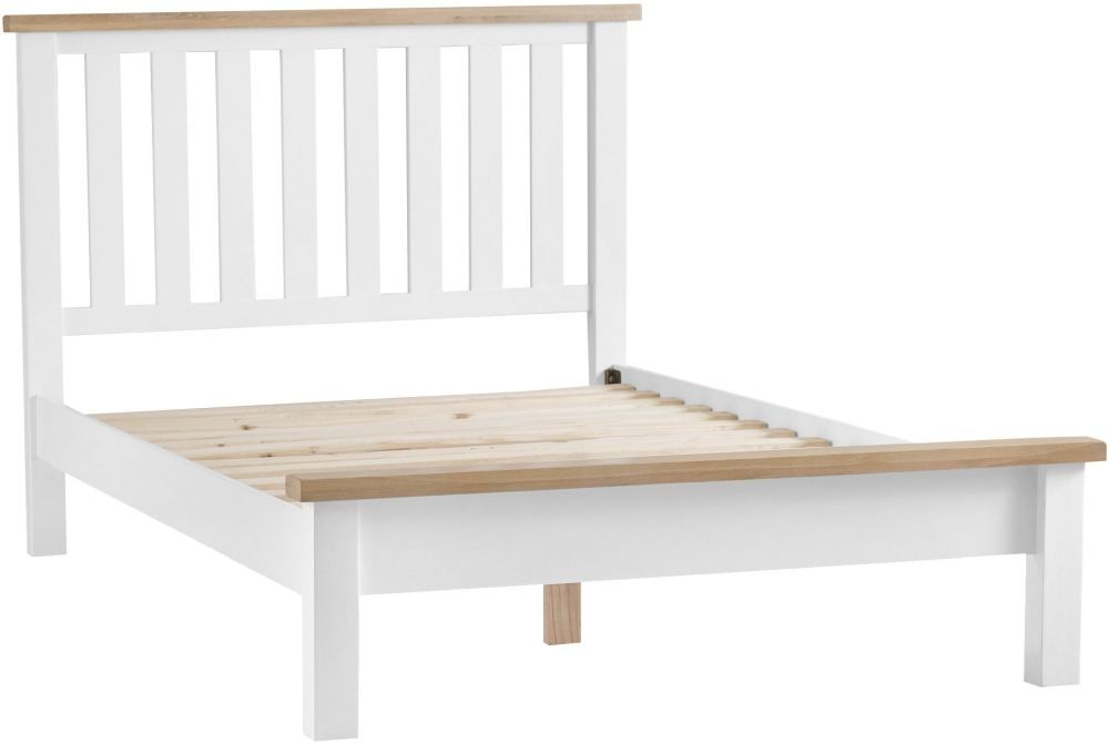 Hampstead Bed - Oak and White Painted