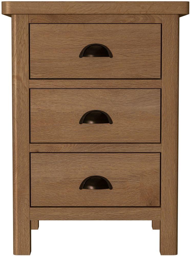 52cc10a1571b Buy Hampton Rustic Oak Bedside Cabinet Online - CFS UK