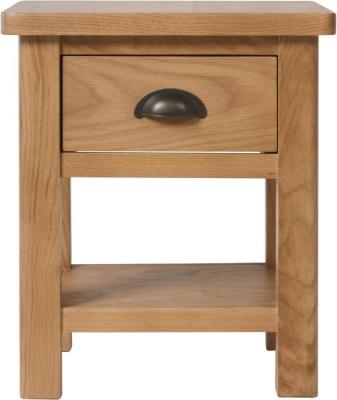 Hampton Rustic Oak 1 Drawer Lamp Table