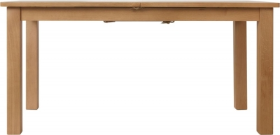 Hampton Rustic Oak 160cm Extending Dining Table