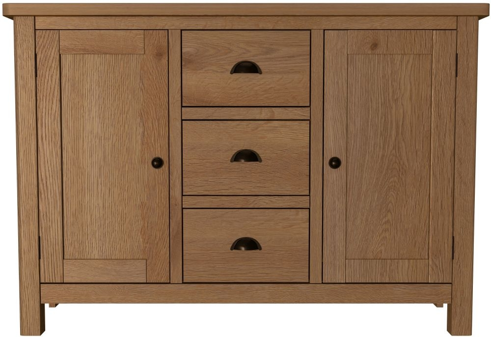 Hampton Rustic Oak Large Sideboard