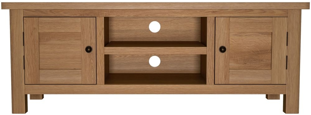 Hampton Rustic Oak TV Unit